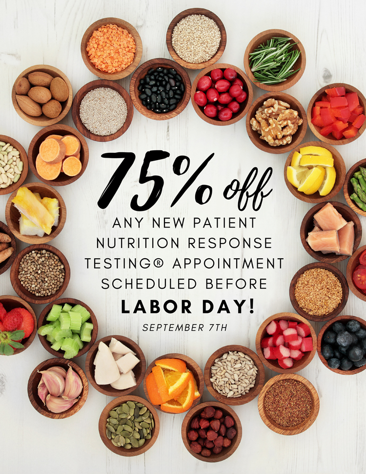 Nutrition Response Testing Special at Bountiful Life Chiropractic Center
